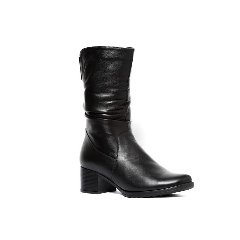 Женские кожаные полусапожки »Вера», код  — 4035