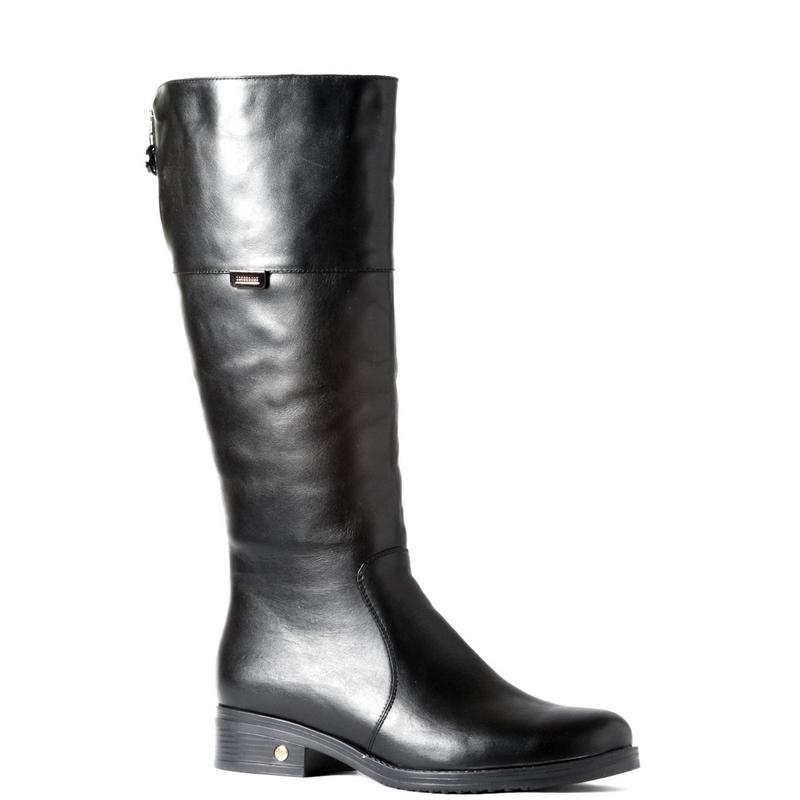Женские кожаные сапоги »2520», код  — 4024