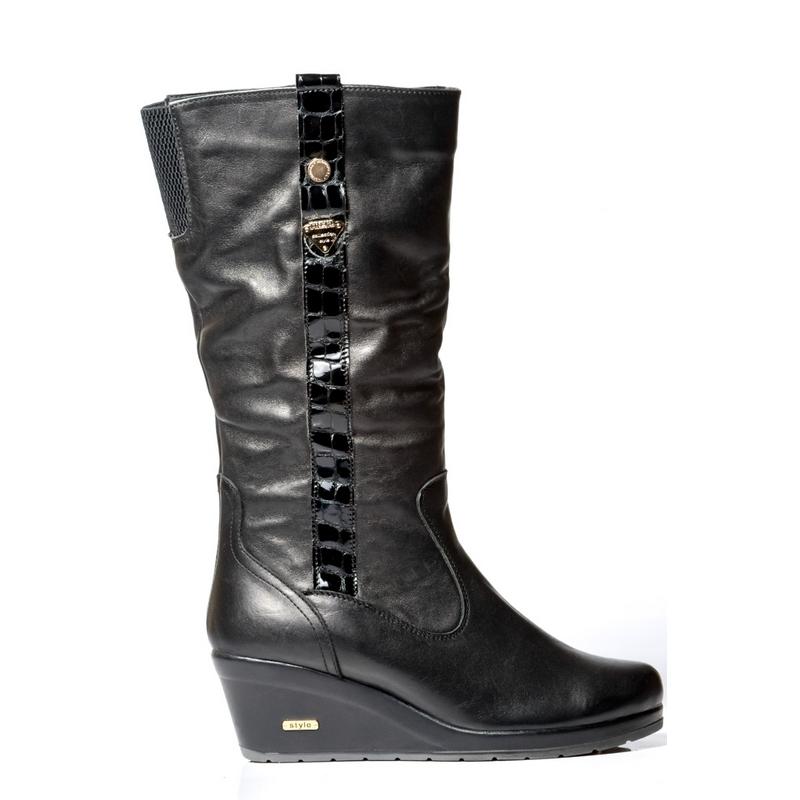 Женские кожаные полусапожки »Влада кожа», код  — 4034