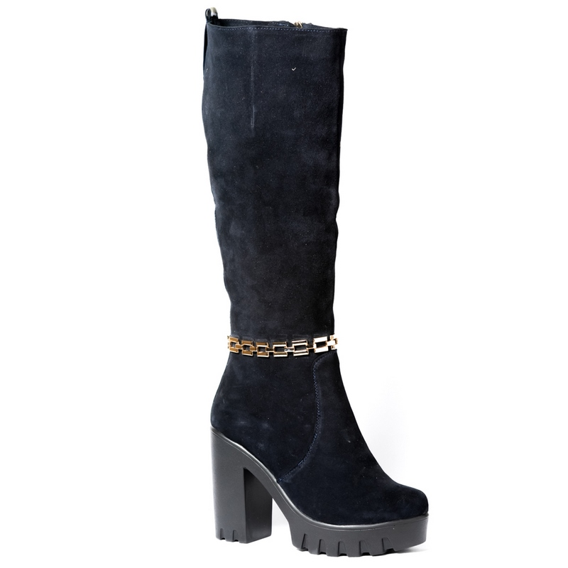 Женские замшевые сапоги »828», код  — 4010