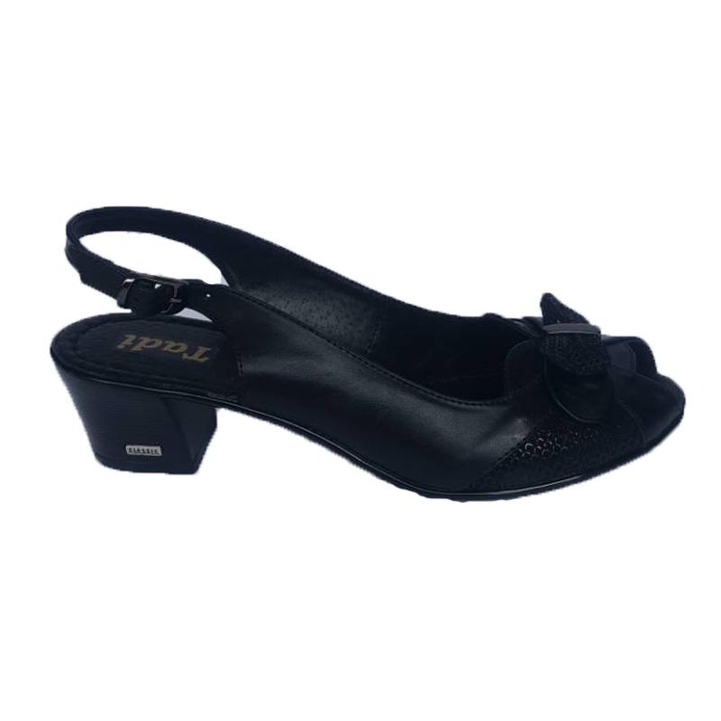 Женские кожаные босоножки 503, цвет «черный»