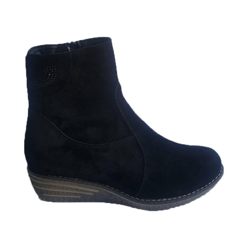 Женские замшевые ботинки «Жасмин 2», цвет — черный