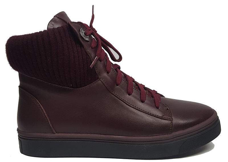 Женские кожаные ботинки «Жанет» бордо