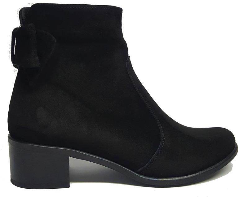 Женские замшевые ботинки «Бантик» замша