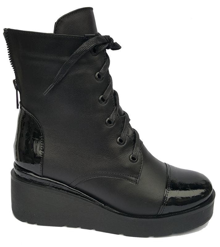 Женские кожаные ботинки «Джулия», цвет черный