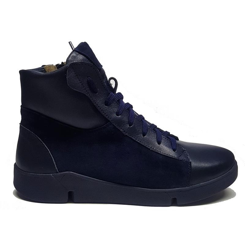 Женские кожаные ботинки «Жаннэт», цвет синий