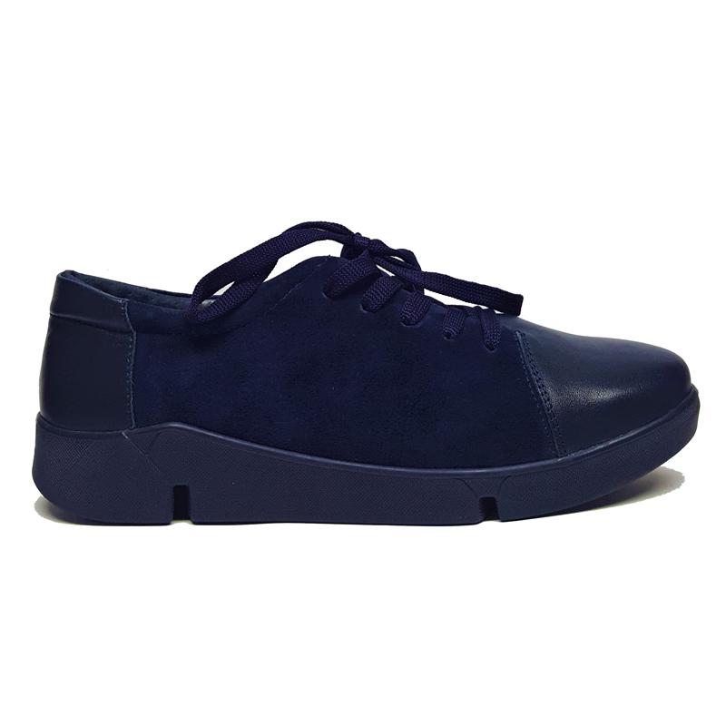 Женские кожаные туфли «Люси №2», цвет синий