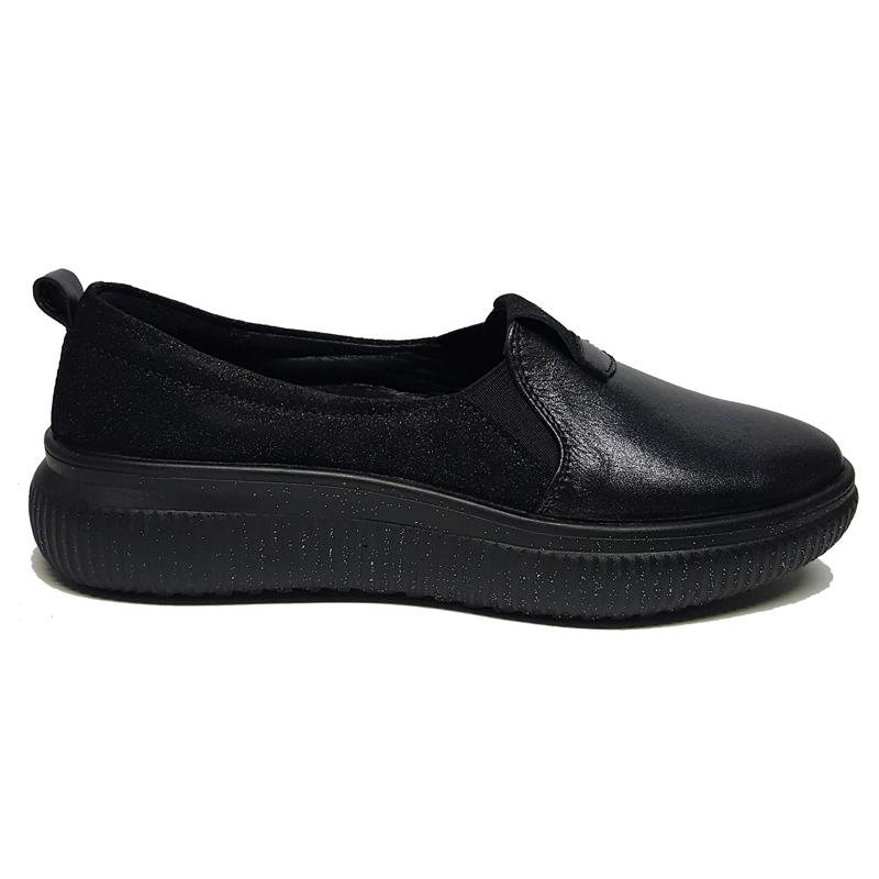 Женские кожаные туфли модель «1953», цвет серый