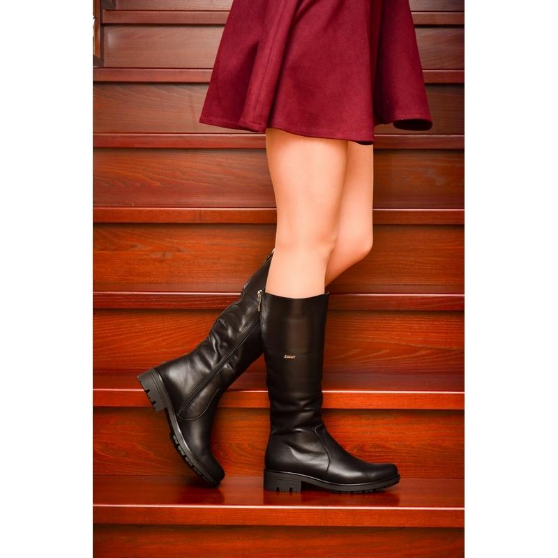 5bbf83983923 Женские кожаные сапоги »2520» на тракторной подошве, код — 4180 ...